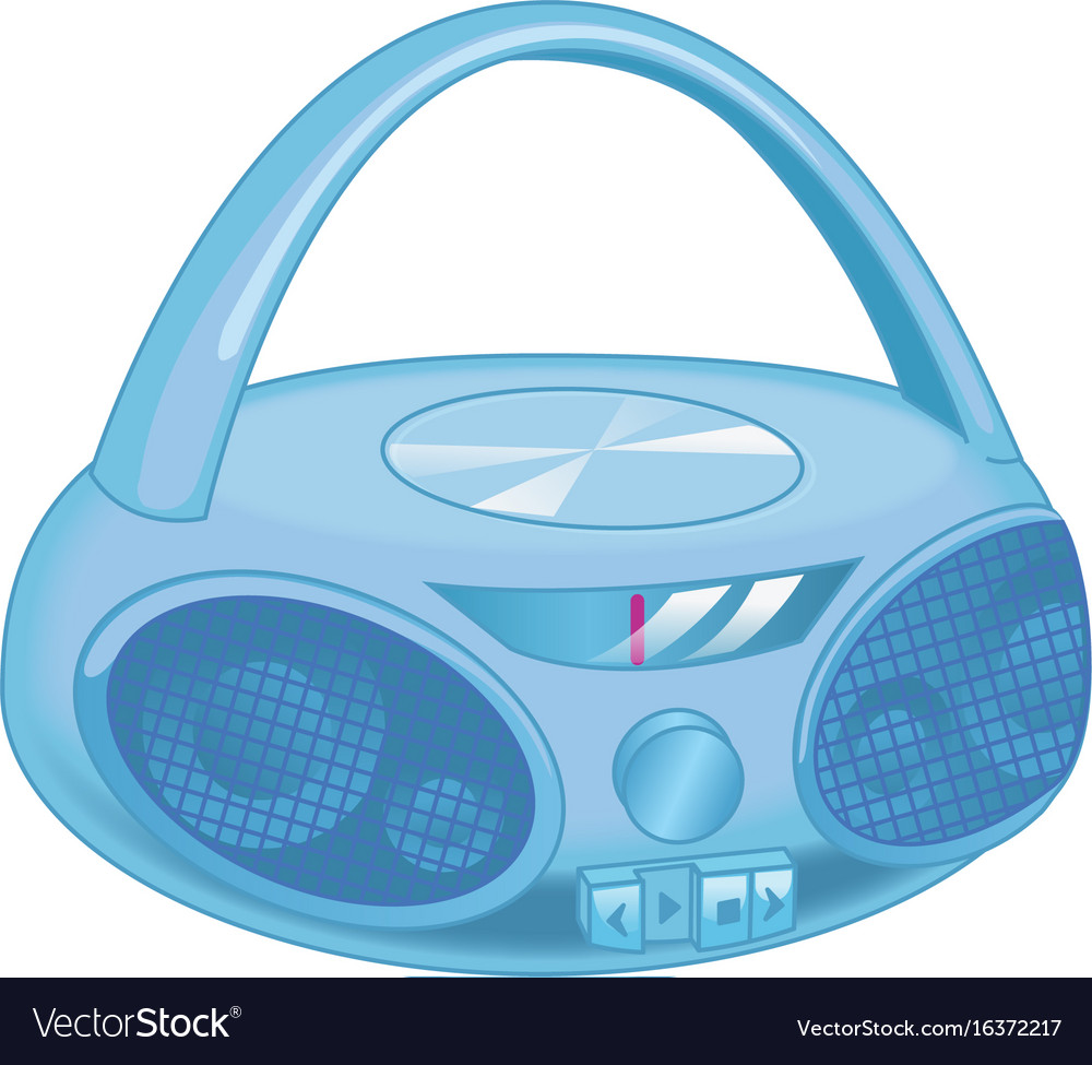 Old fashioned retro style audio tape and cd vector image