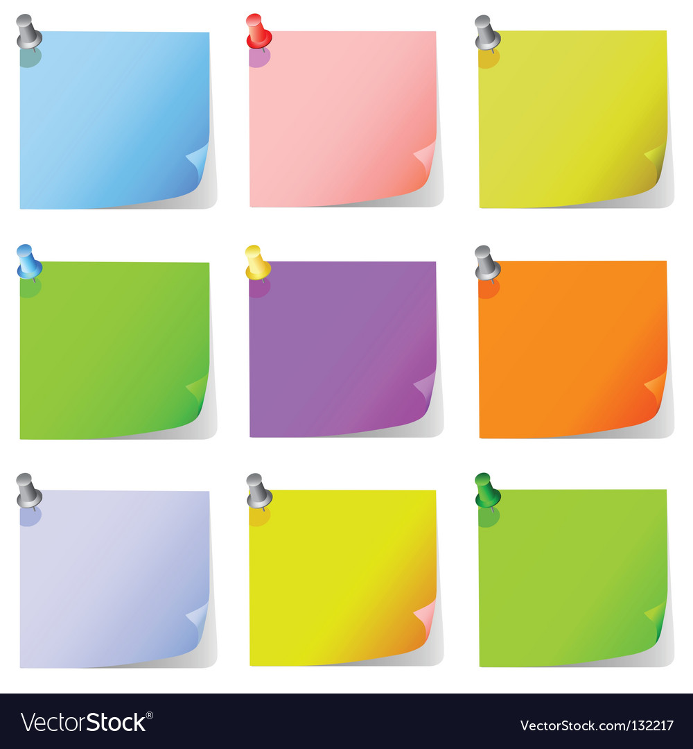 Post it note paper vector image