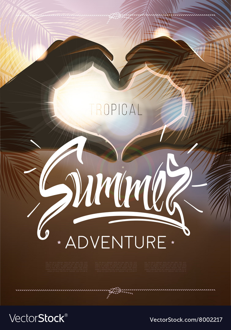 Tropical summer adventure signs