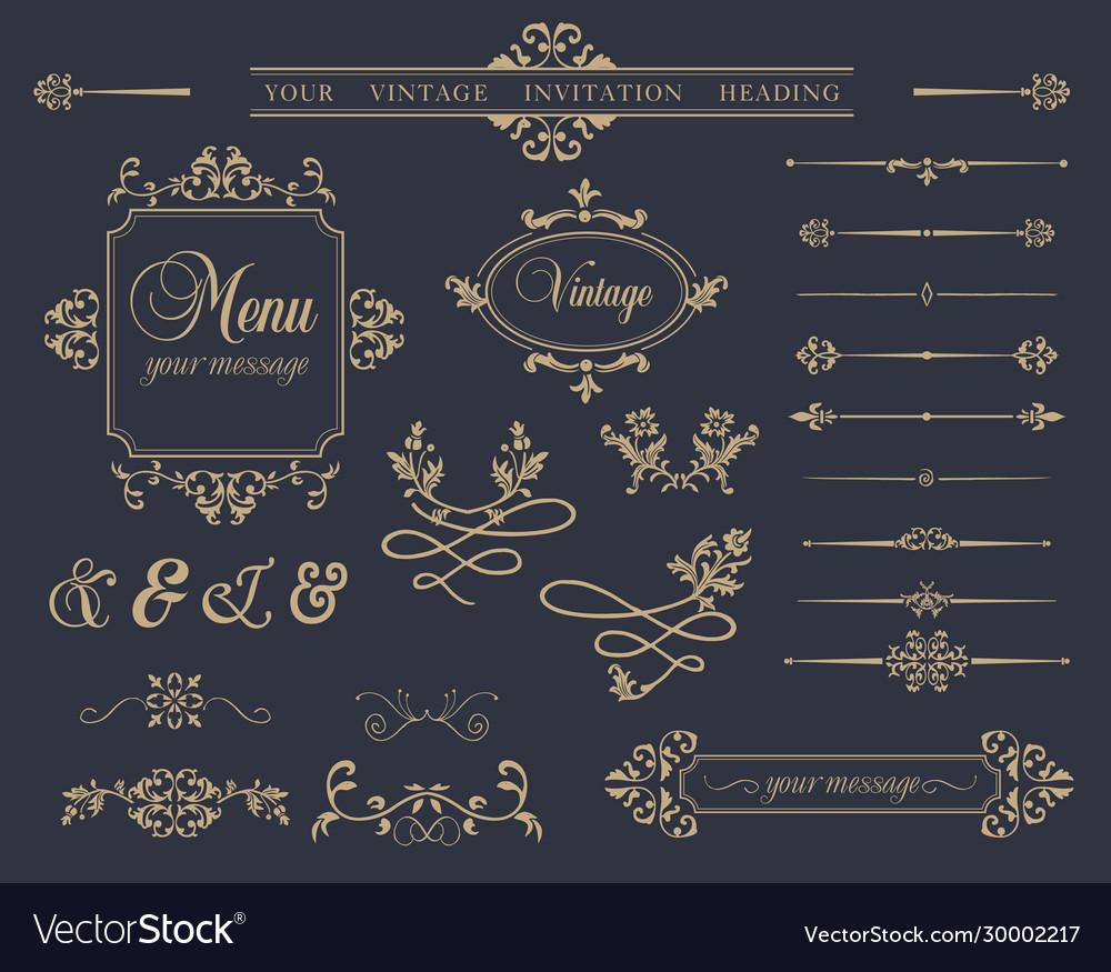 Variety decorative elements set