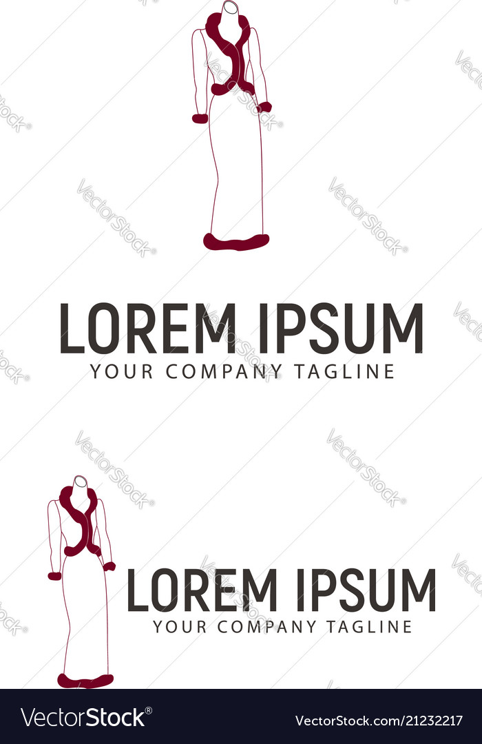 Women fashion logo design concept template