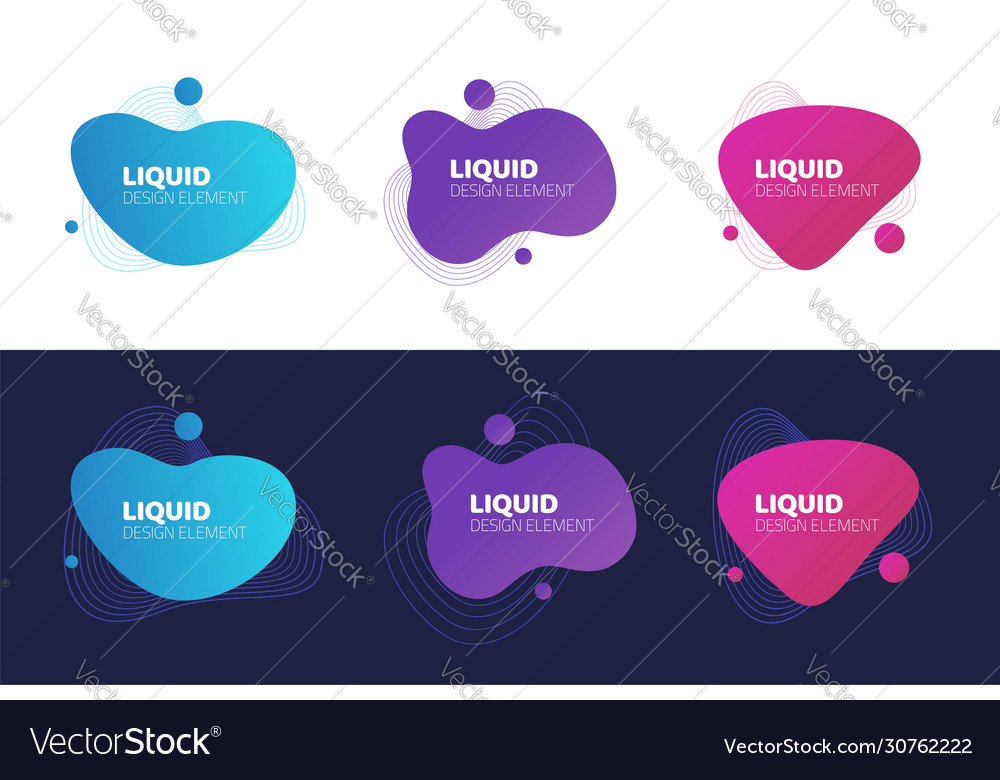 Abstract shapes design fluid background elements