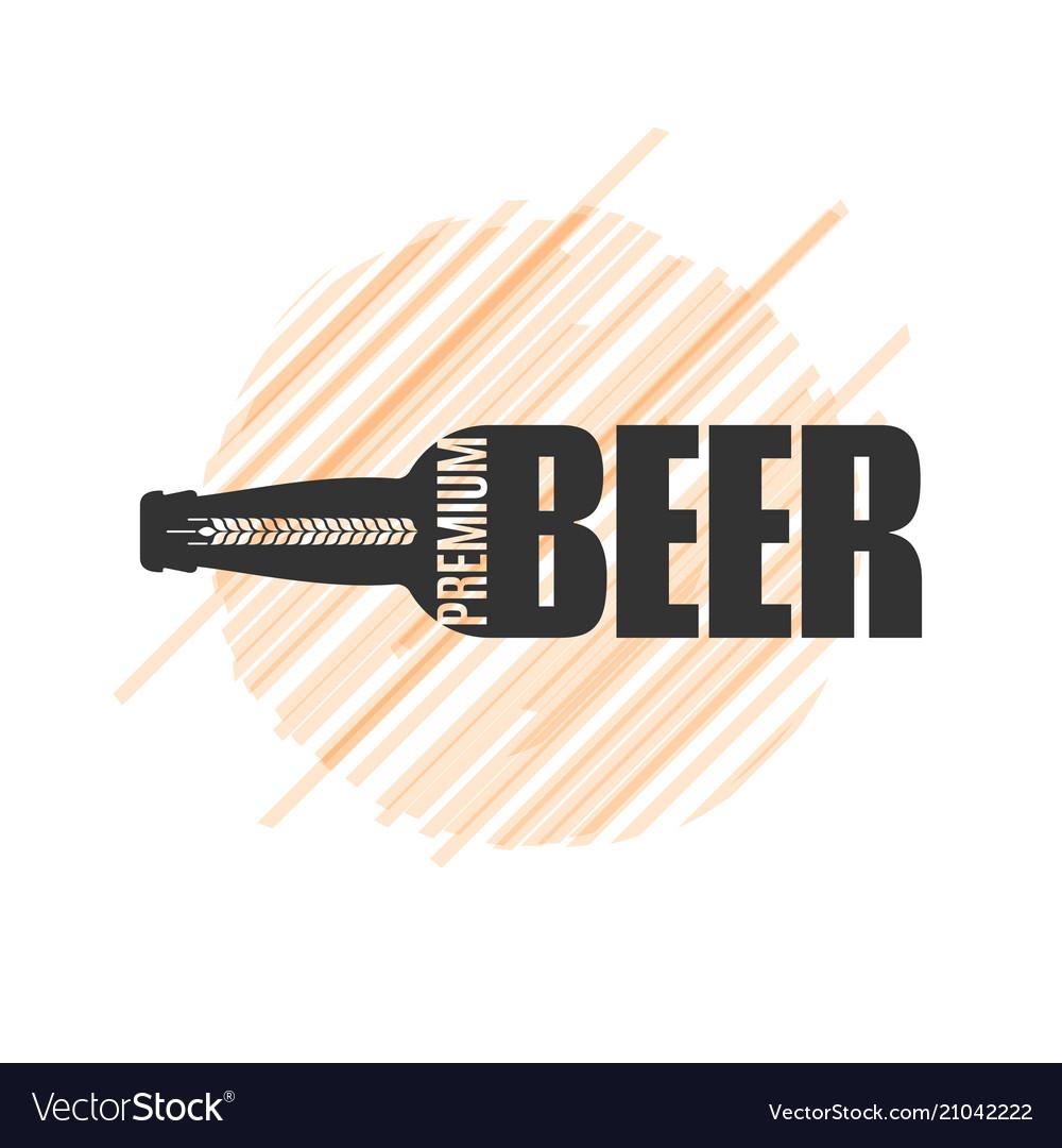 Beer bottle logo design om white background