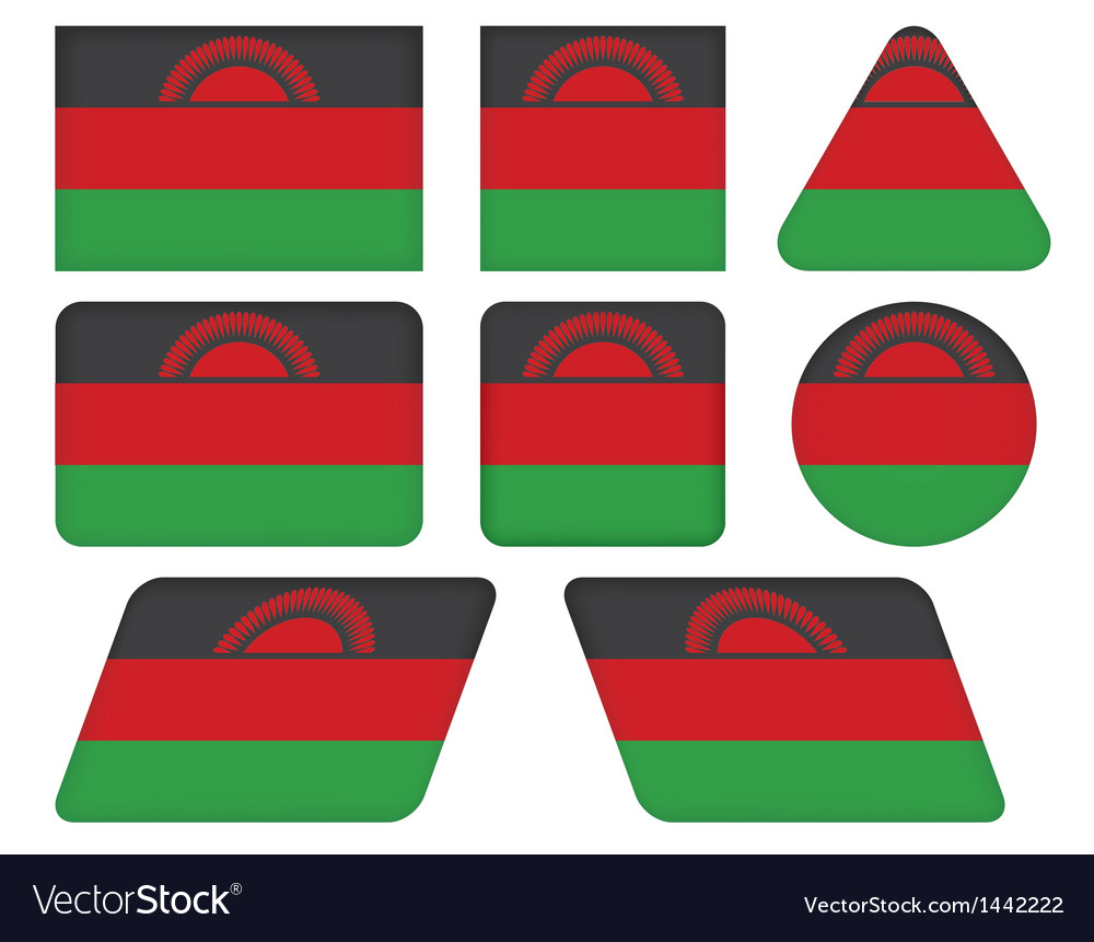 Buttons with flag of Malawi