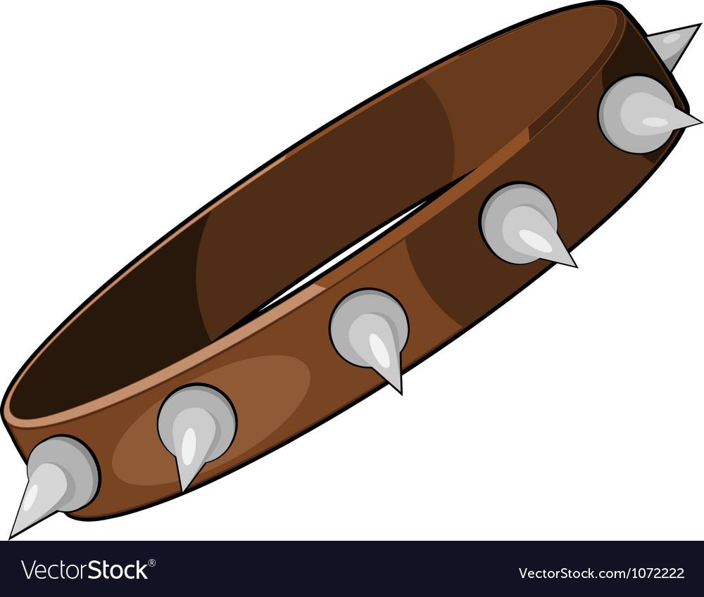 Cartoon dog collar eps10 vector image