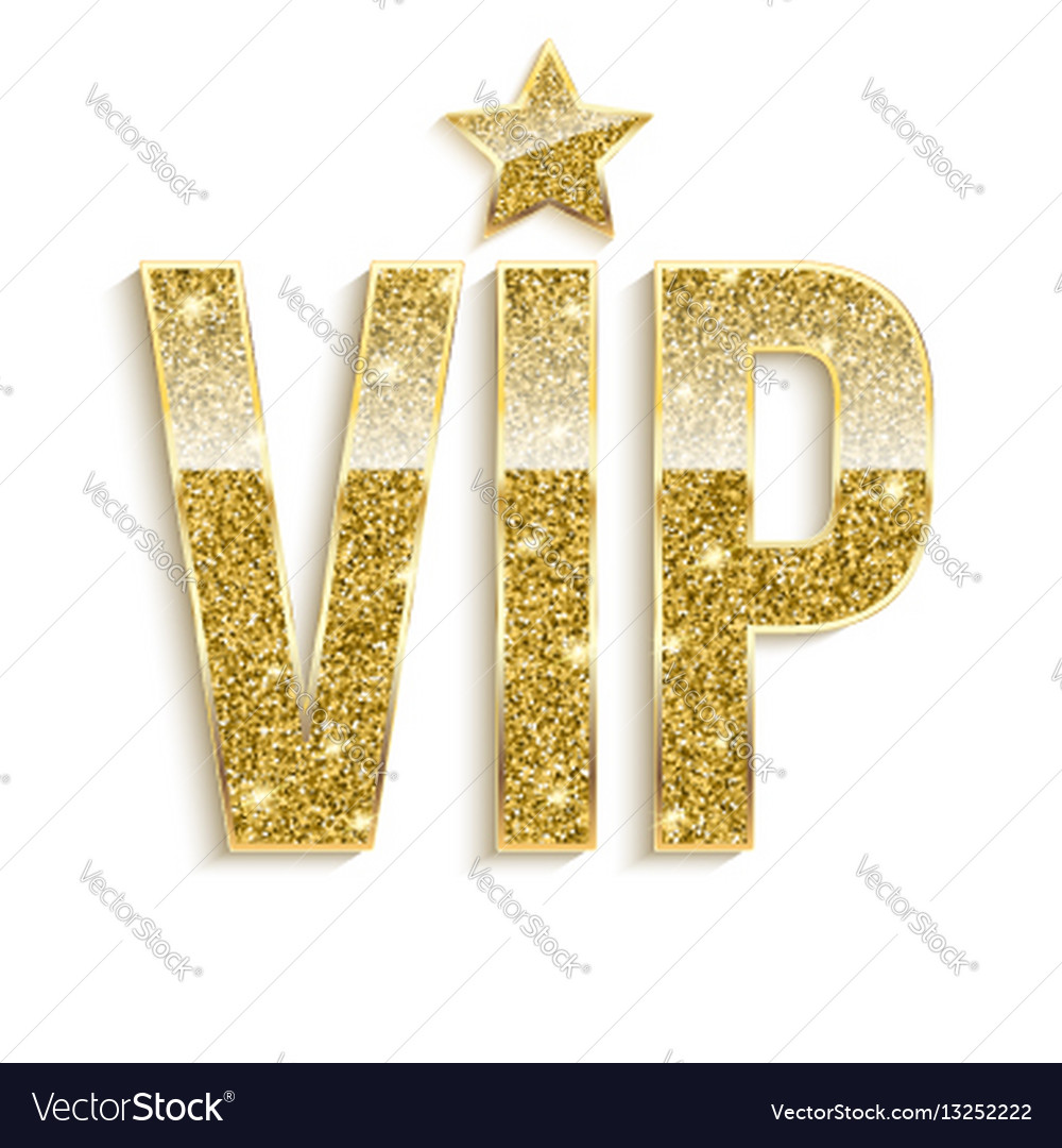 Golden symbol of exclusivity the label vip with
