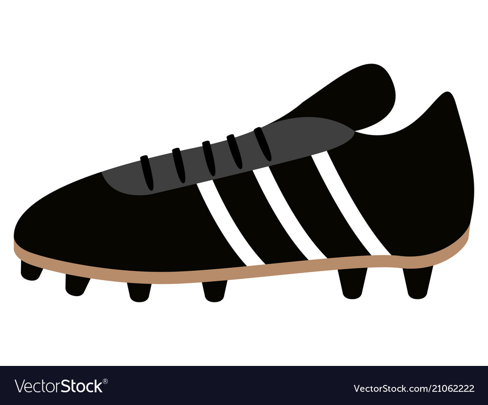 Isolated soccer shoe icon vector image