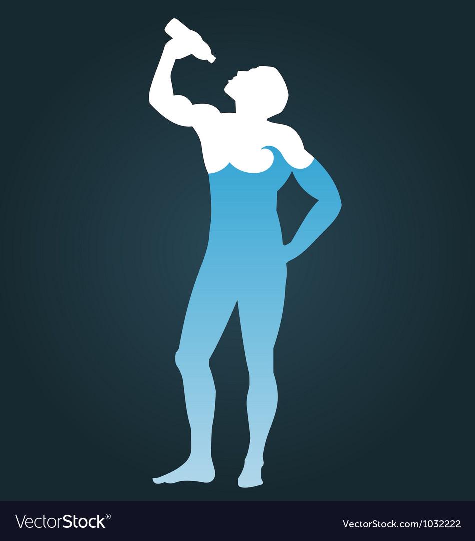 Man consisting of water vector image
