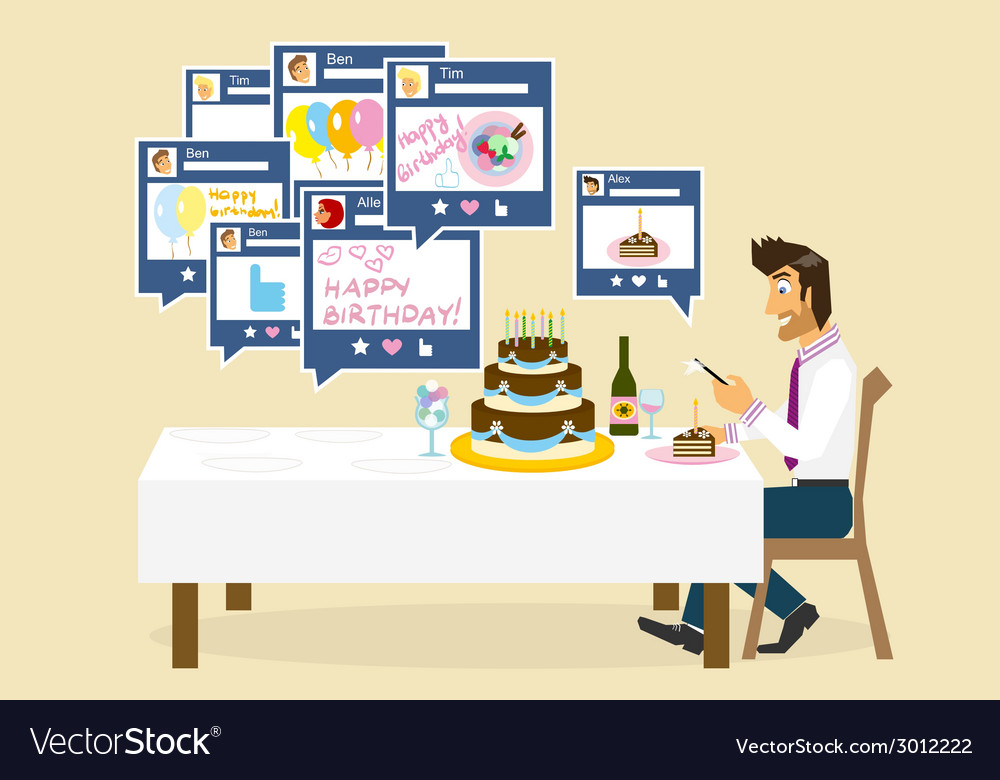 Social networking and birthday