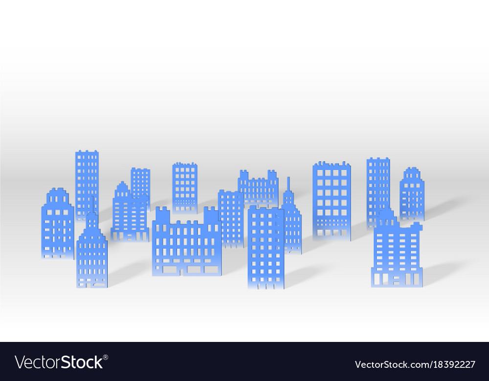 A 3d paper city skyline