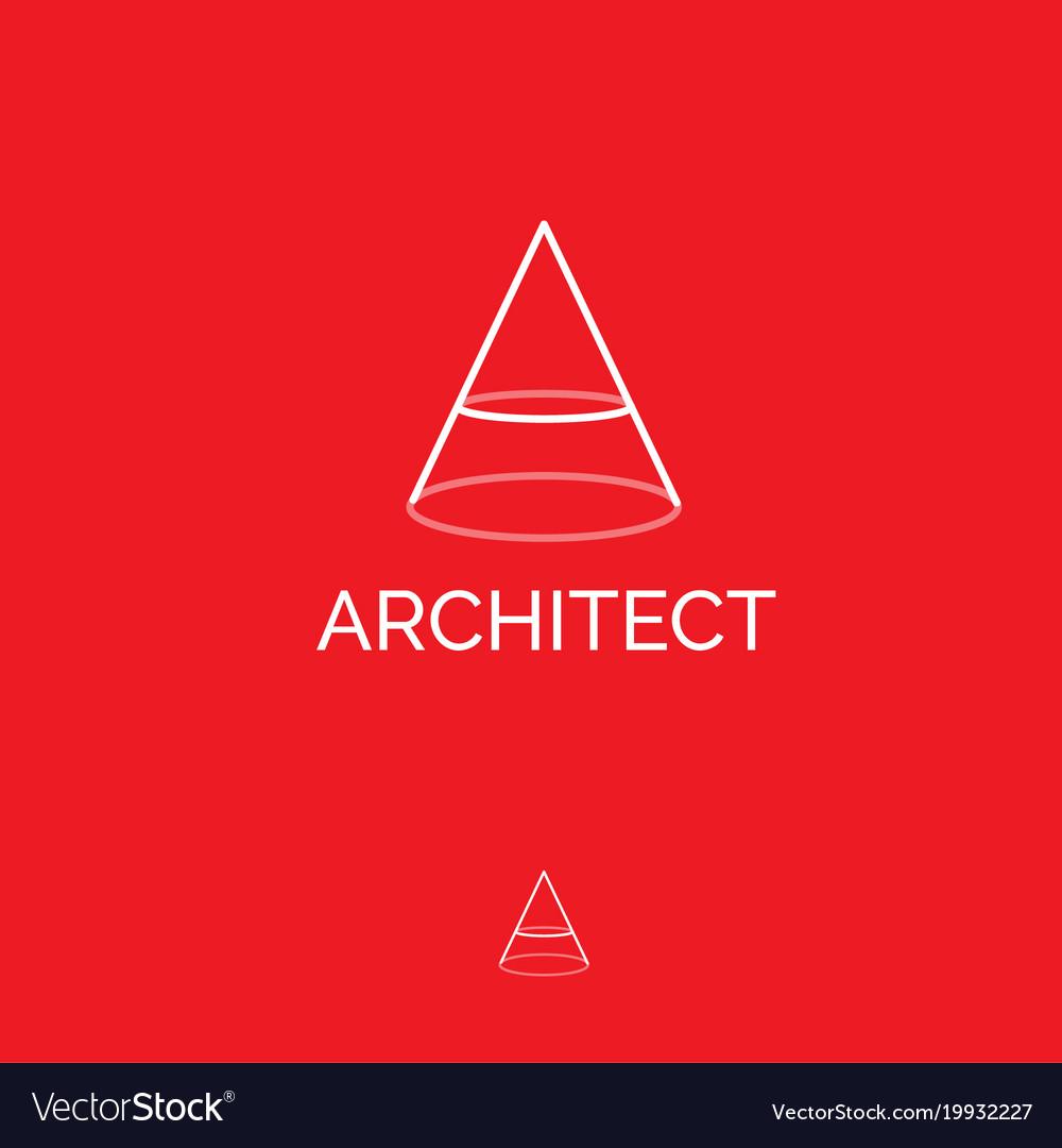 A monogram architect logo building