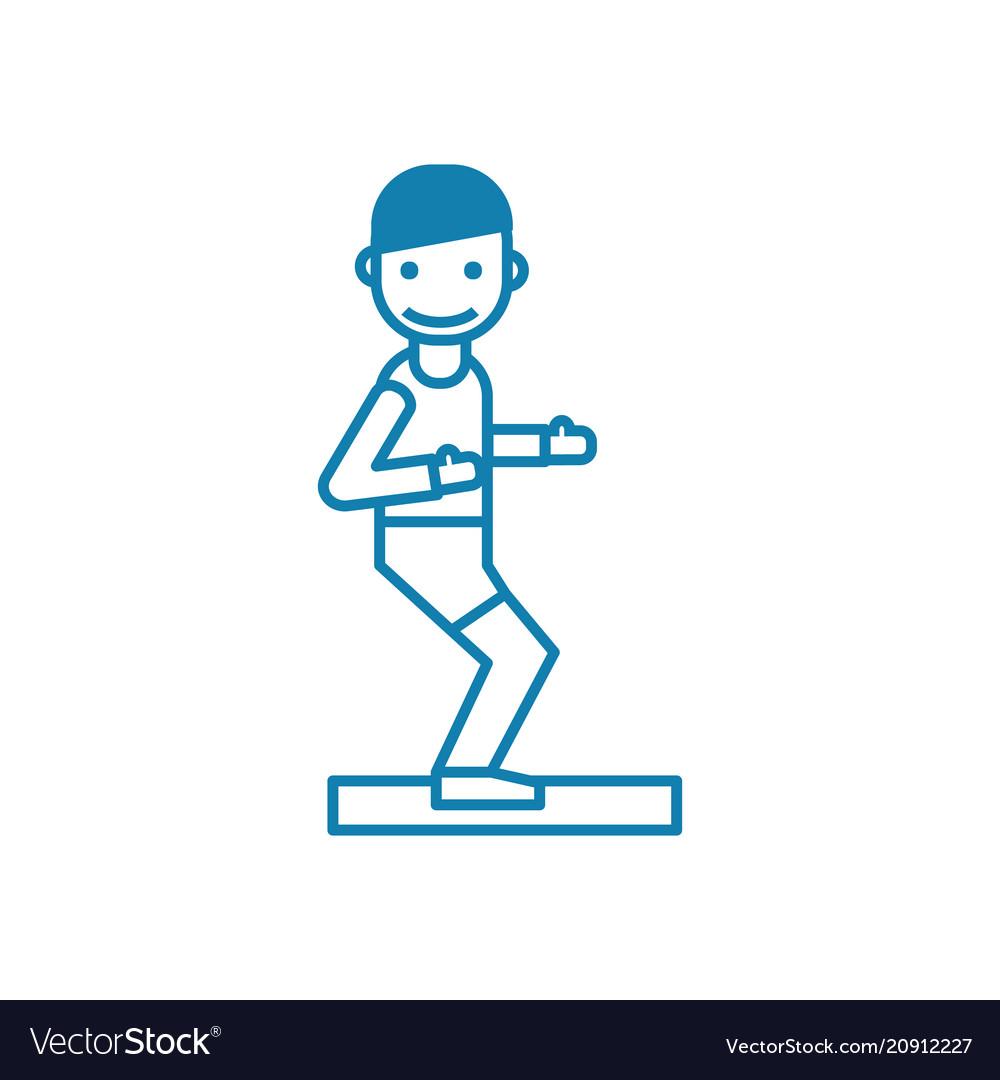 Athletics linear icon concept athletics line