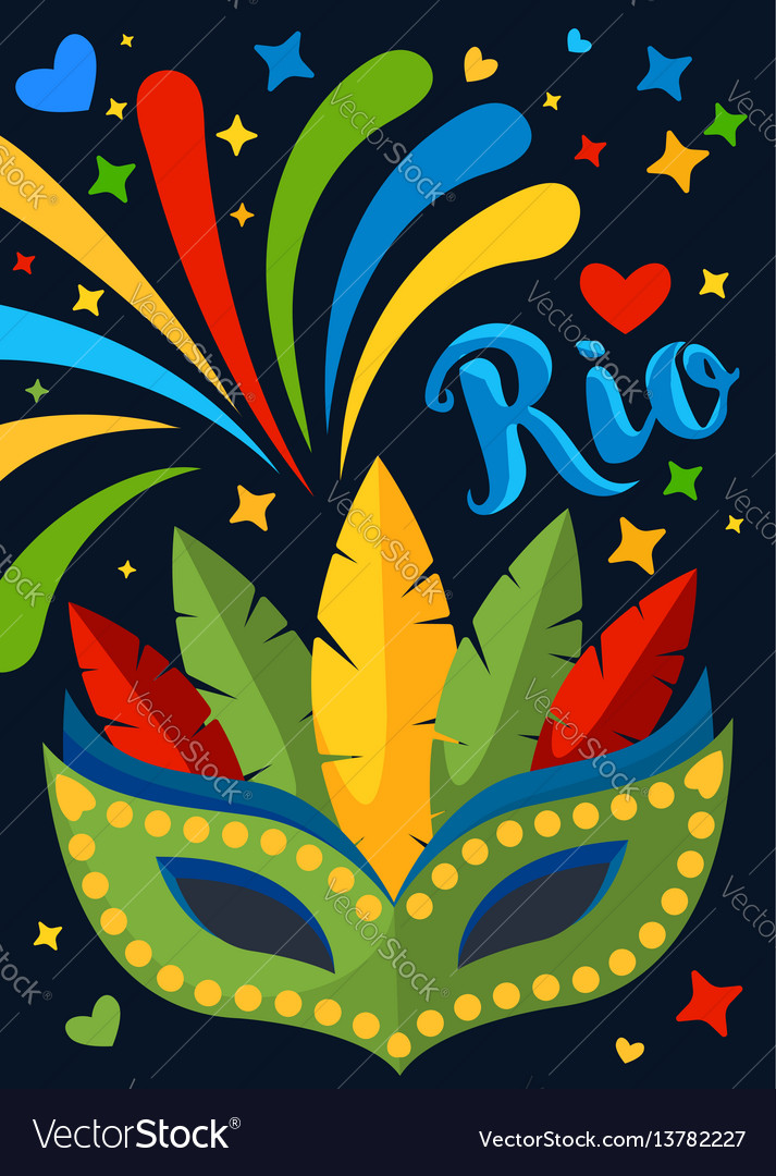 Brazil carnival background for placard poster
