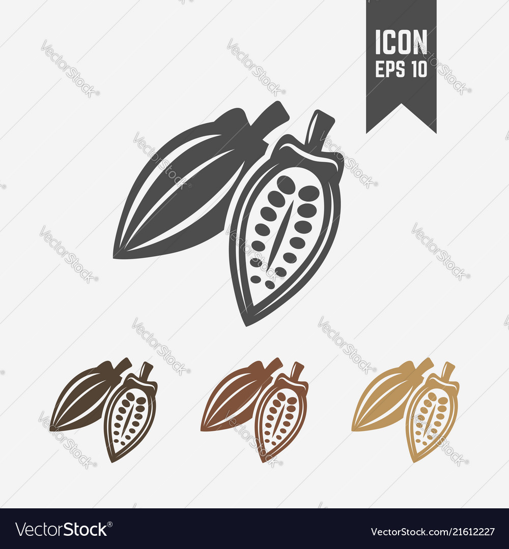 Cocoa pod isolated icon or sign