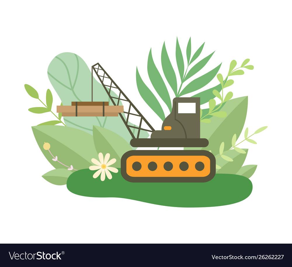 Hydraulic crawler crane lifting heavy load in