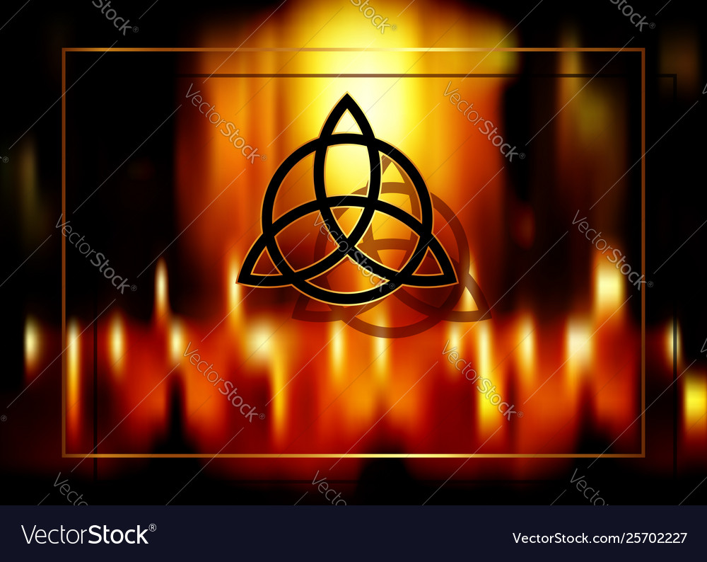 Triquetra trinity knot wiccan symbol esoteric