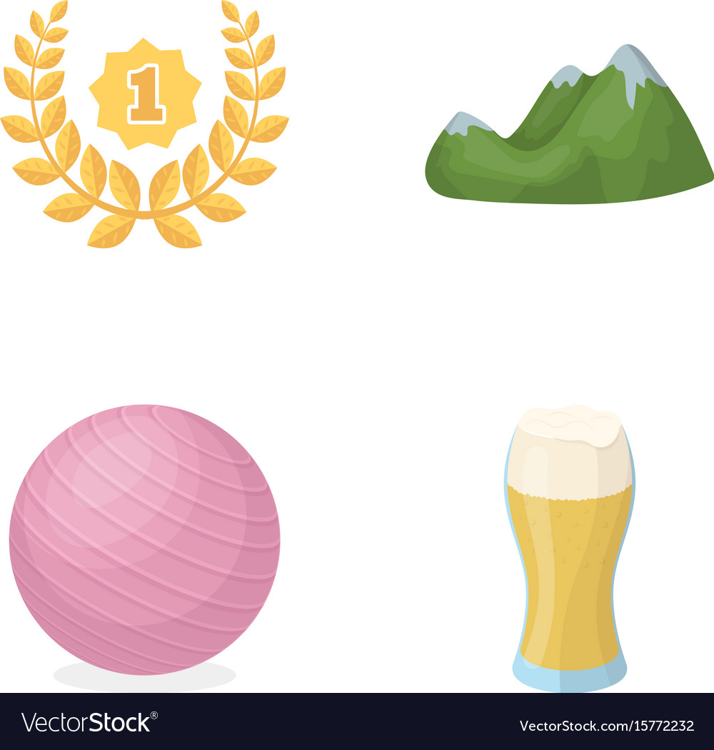 Alcohol sports and other web icon in cartoon