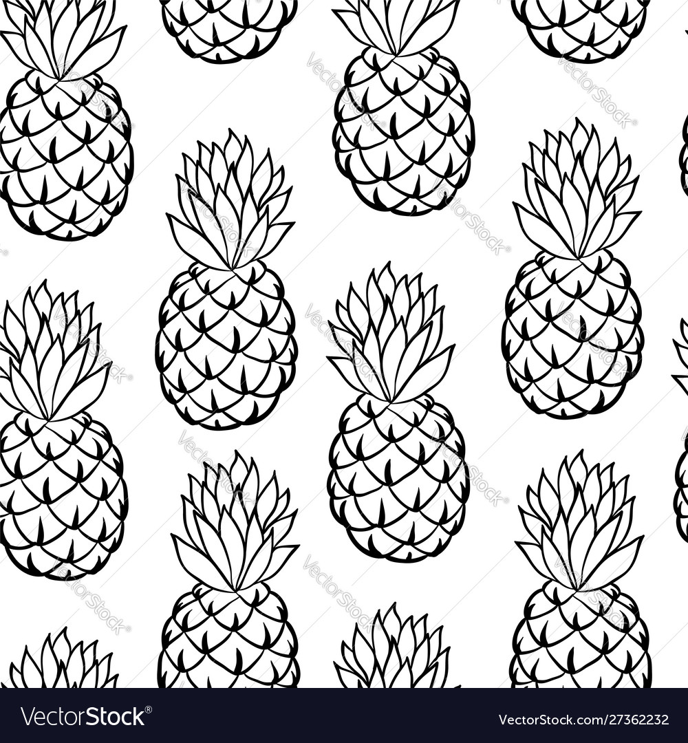 Beautiful black and white seamless doodle pattern