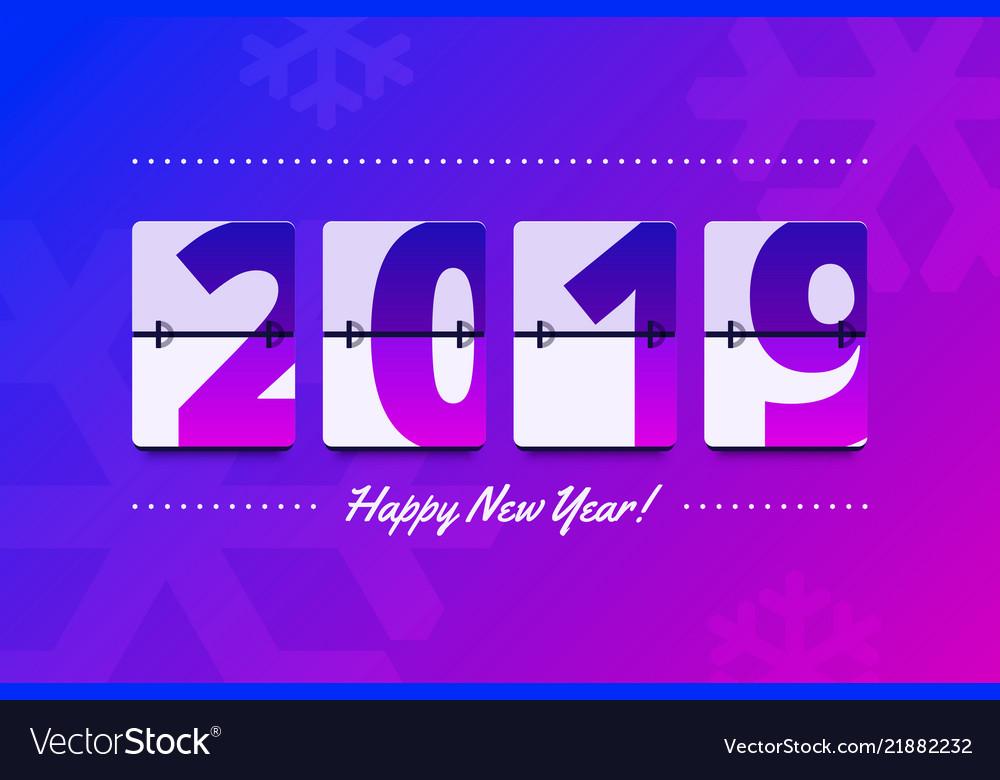 Happy new year 2019 scoreboard