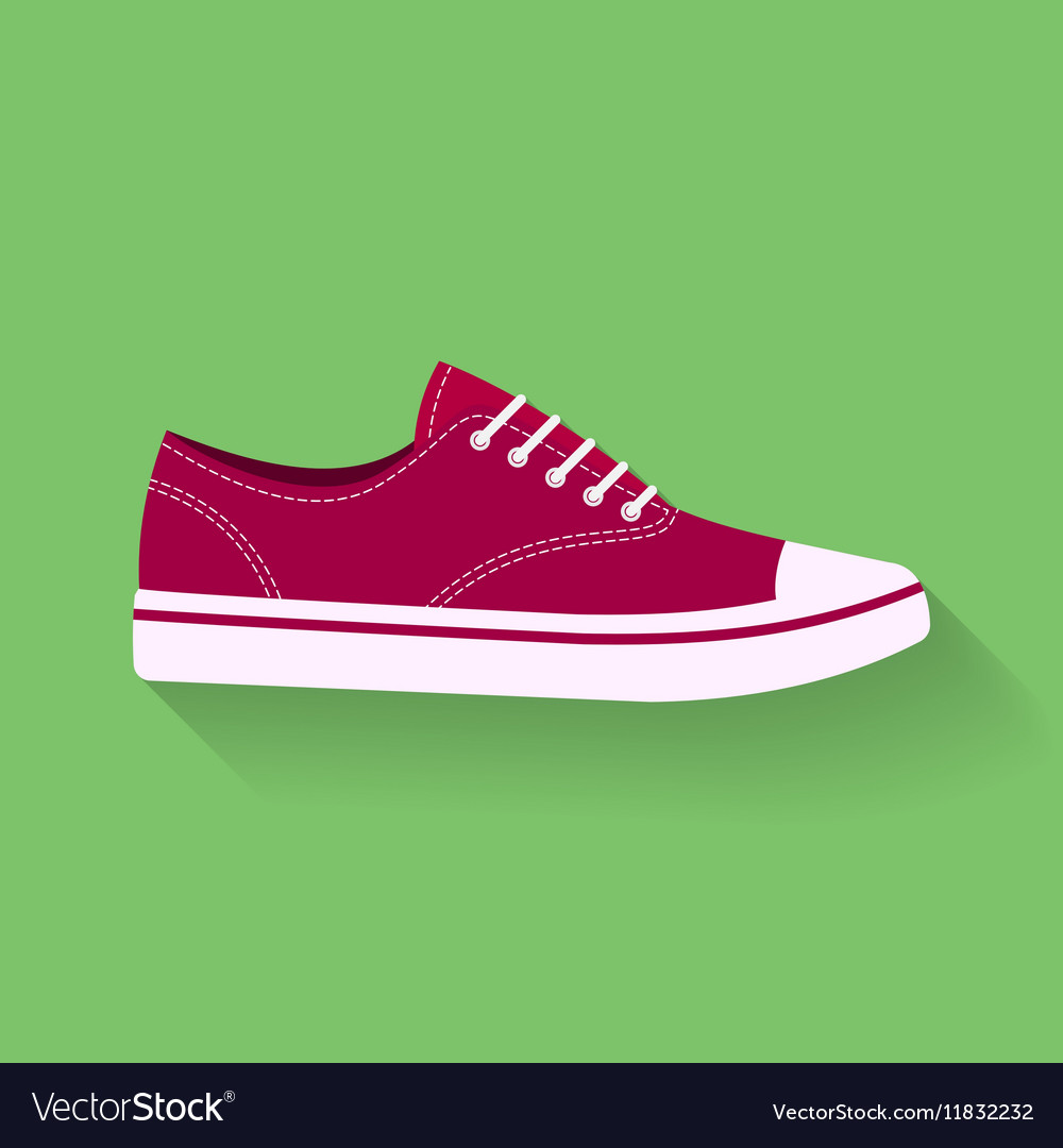Icon of sneakers Sport shoes footwear sign symbol