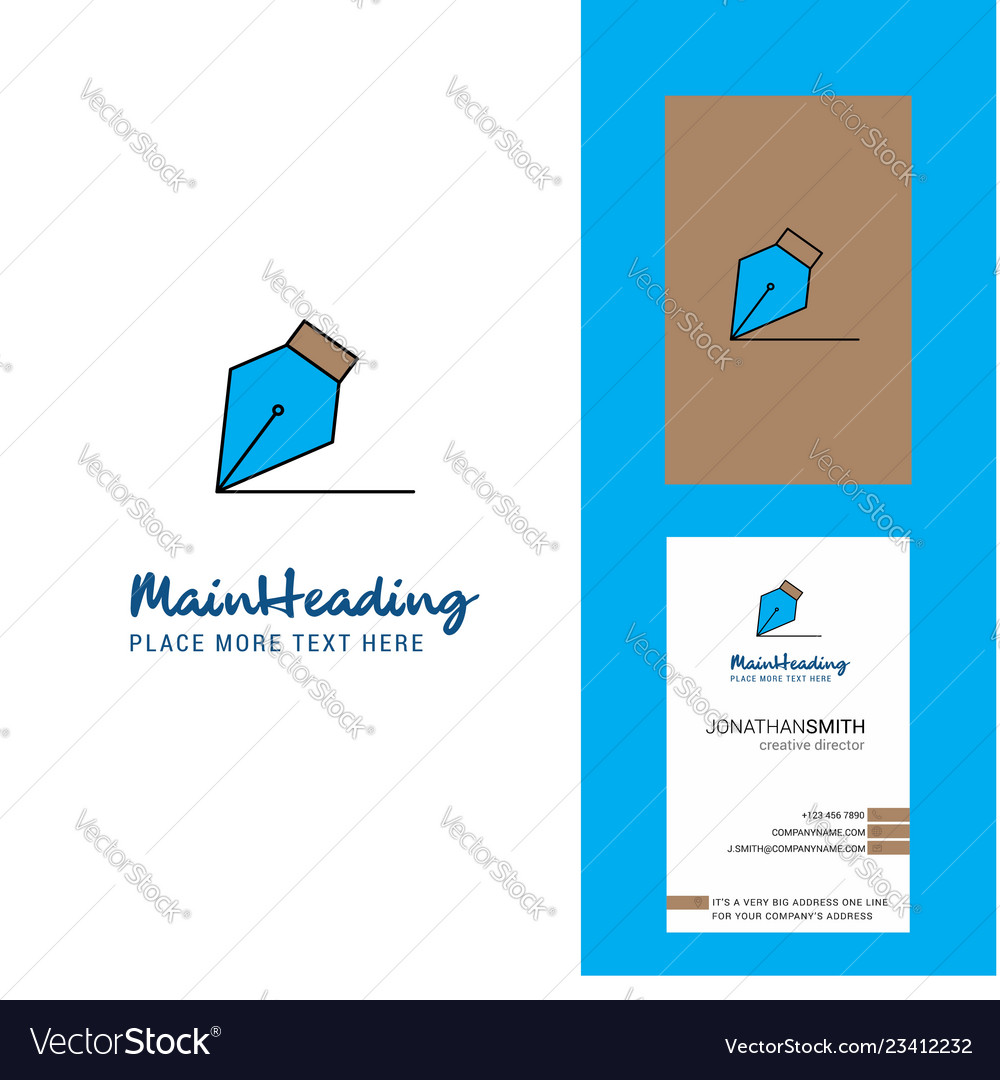Writing Creative Logo And Business Card Vertical Vector Image