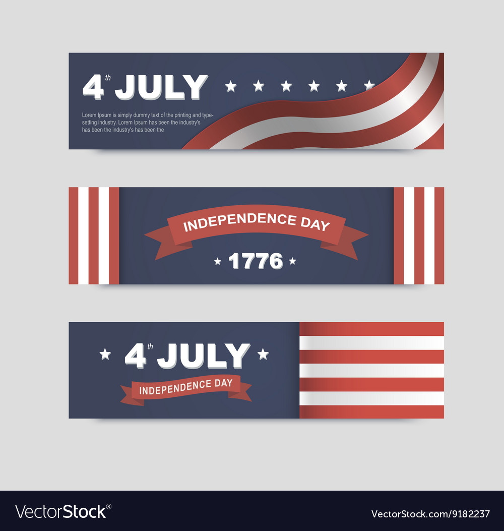Banners for independence day of america