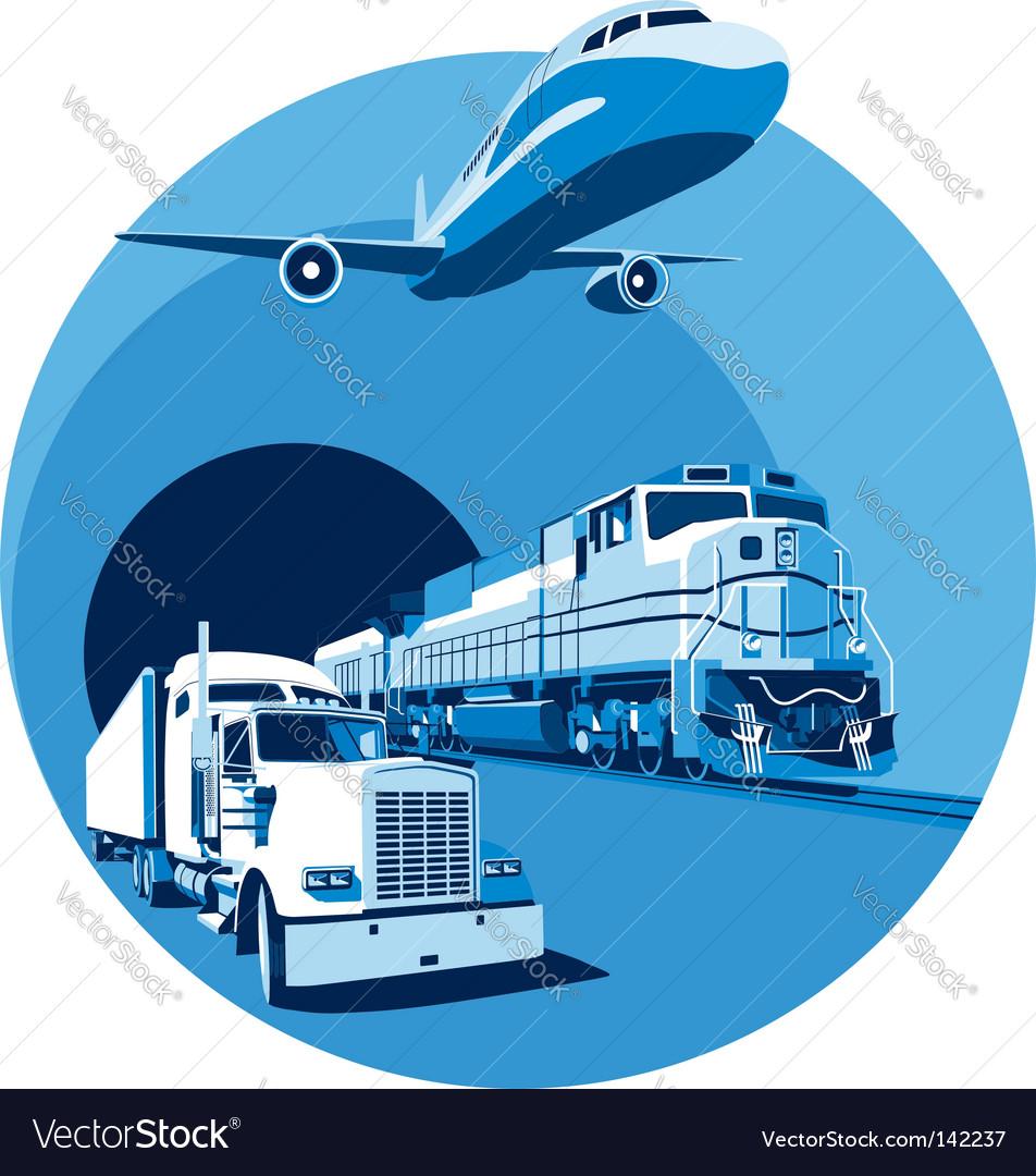 Cargo transportation blue