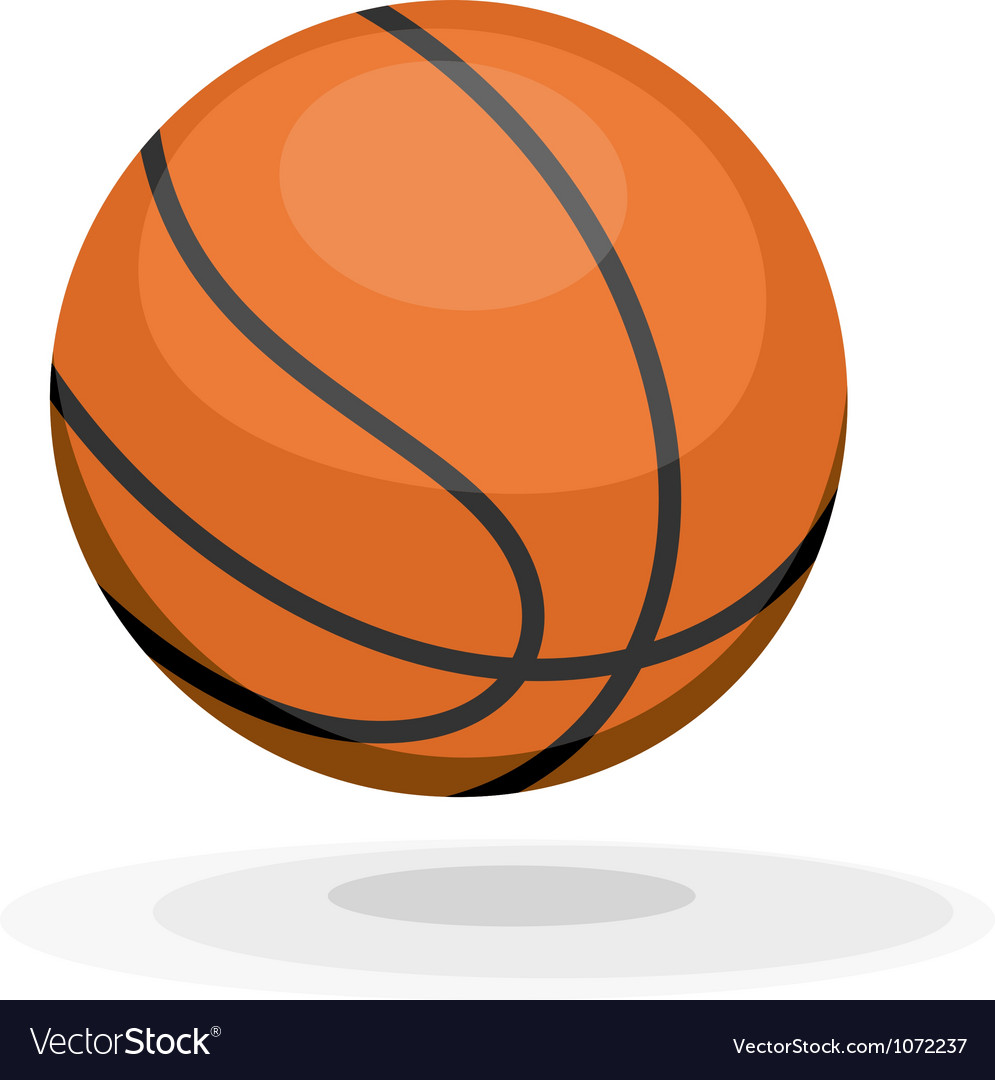 Cartoon basketball ips10 vector image