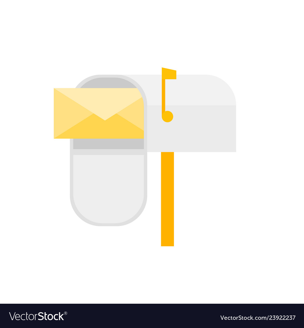 Cartoon mail box post sign isolated on a white