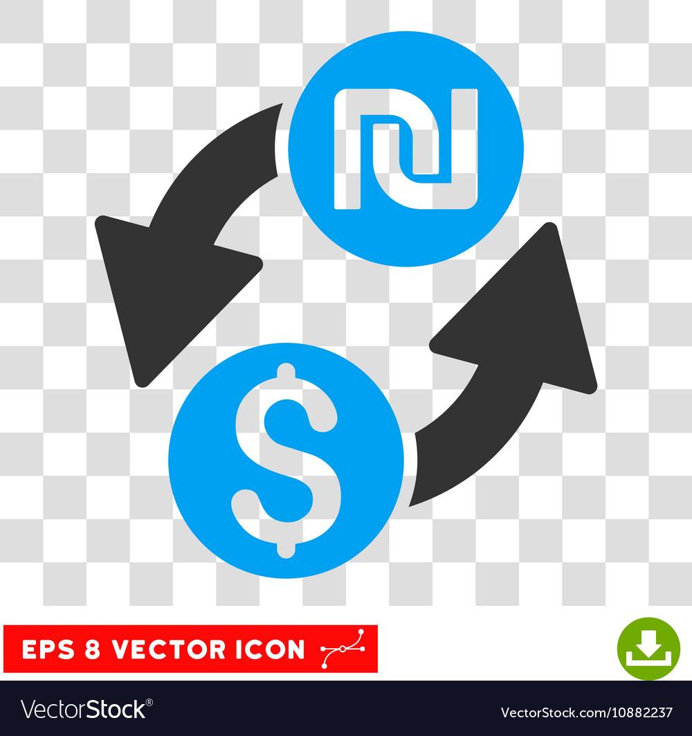 Dollar Shekel Exchange Icon Royalty Free Vector Image
