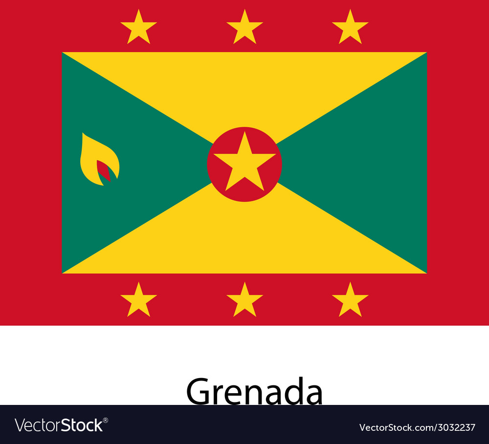 Flag of the country grenada