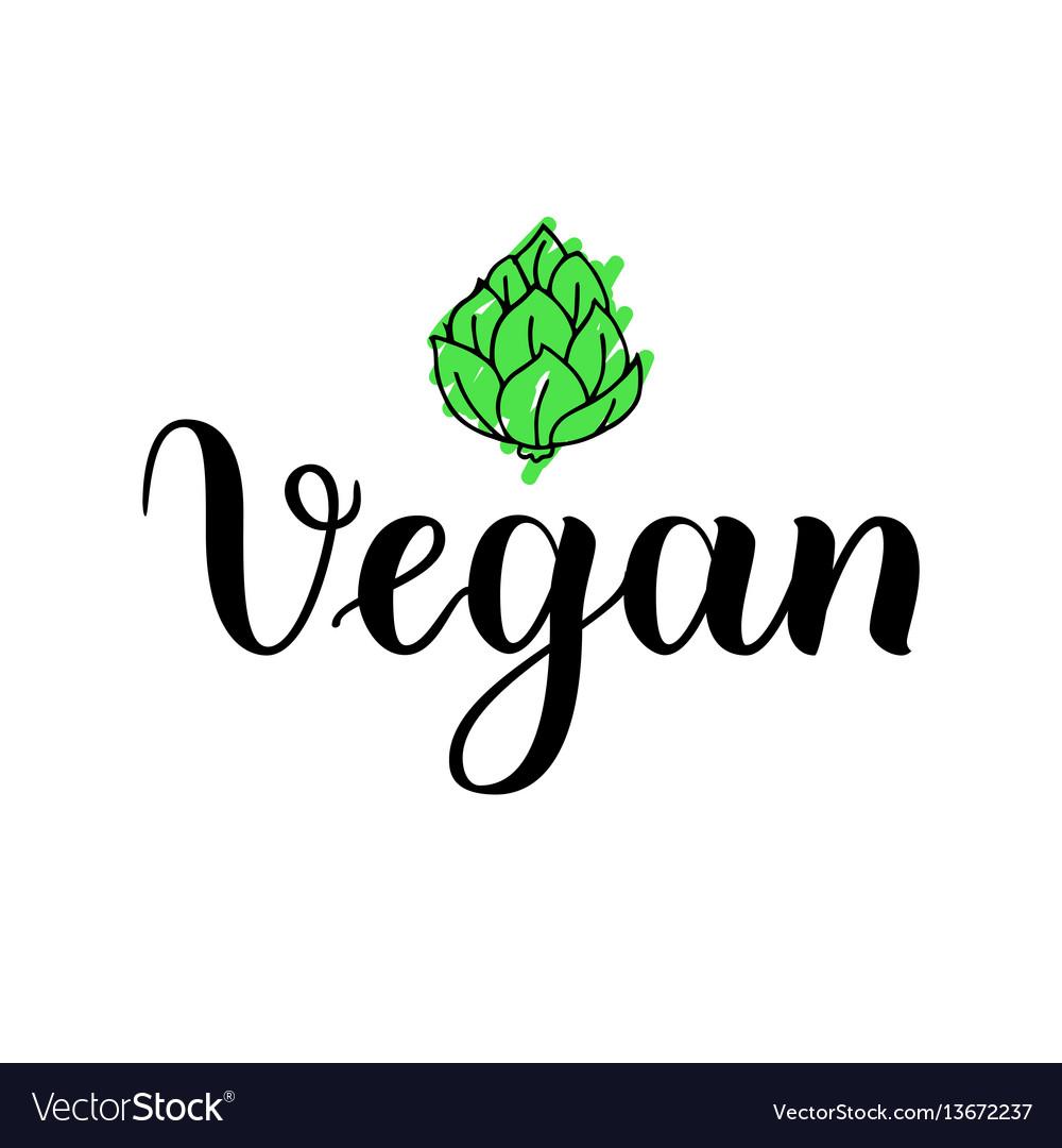 Food design handwritten vector image
