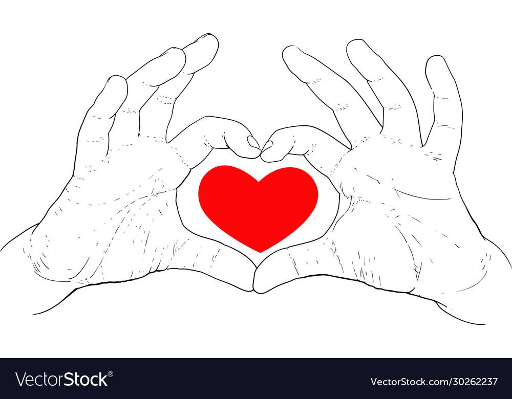 Hands showing heart