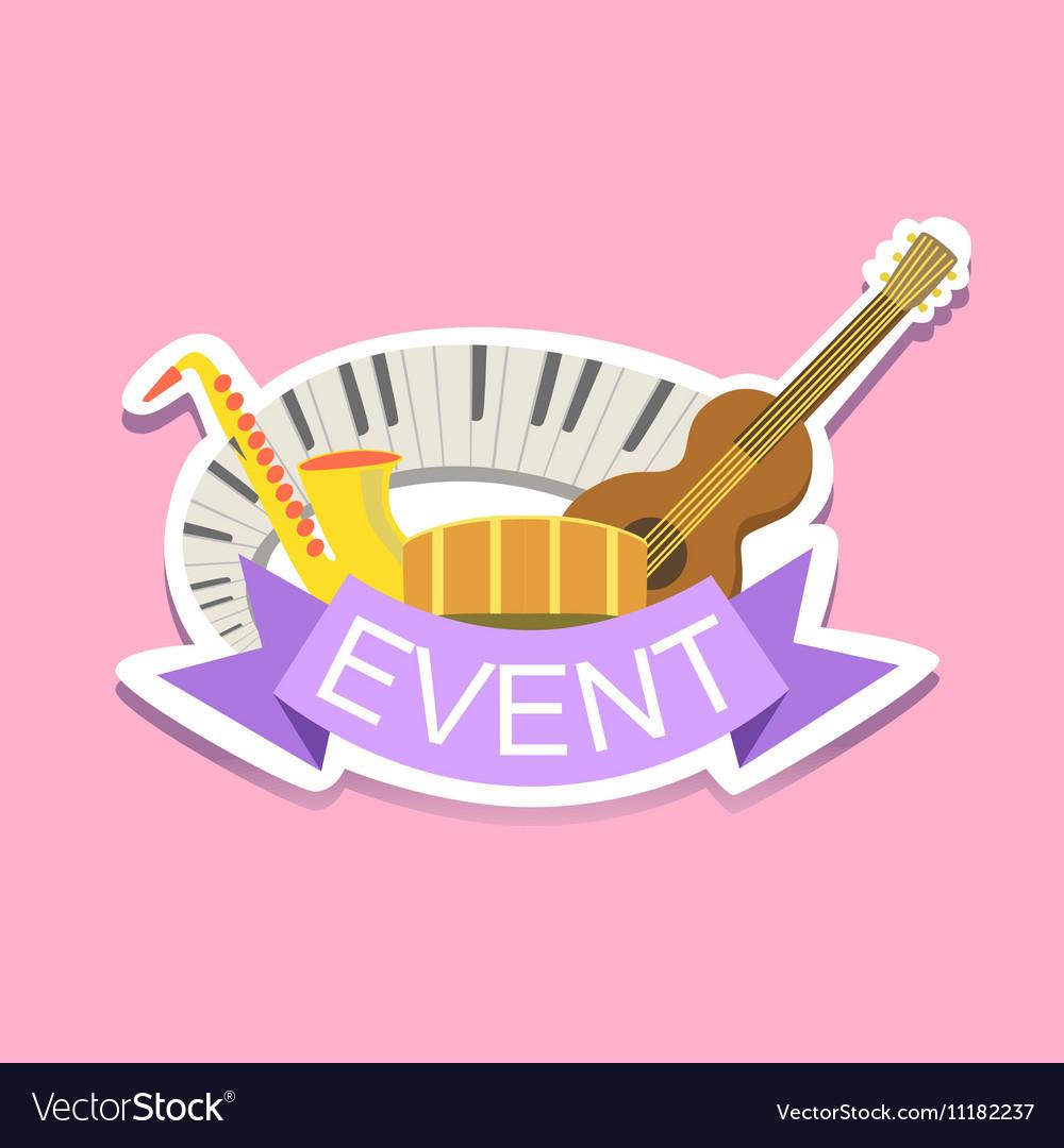 Jazz Concert Event Template Label Cute Sticker