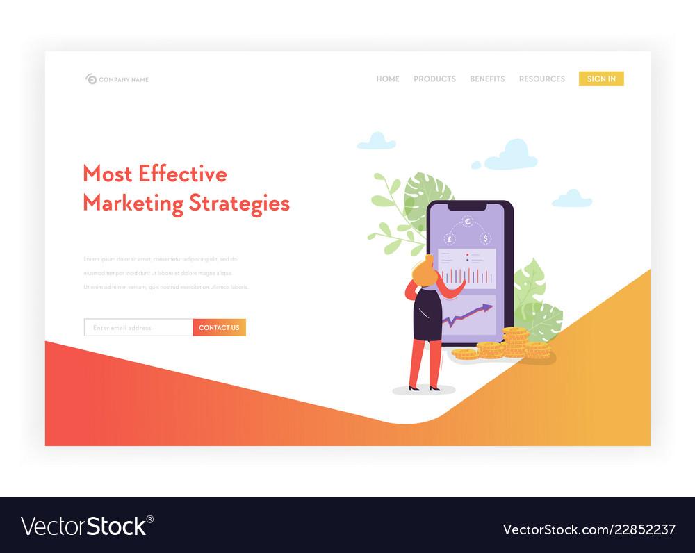 Mobile marketing landing page template banking