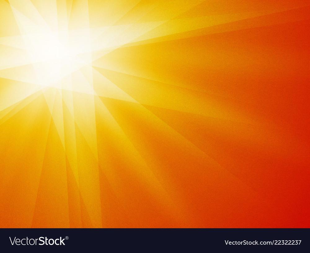 Orange yellow rays sun texture grain background Vector Image