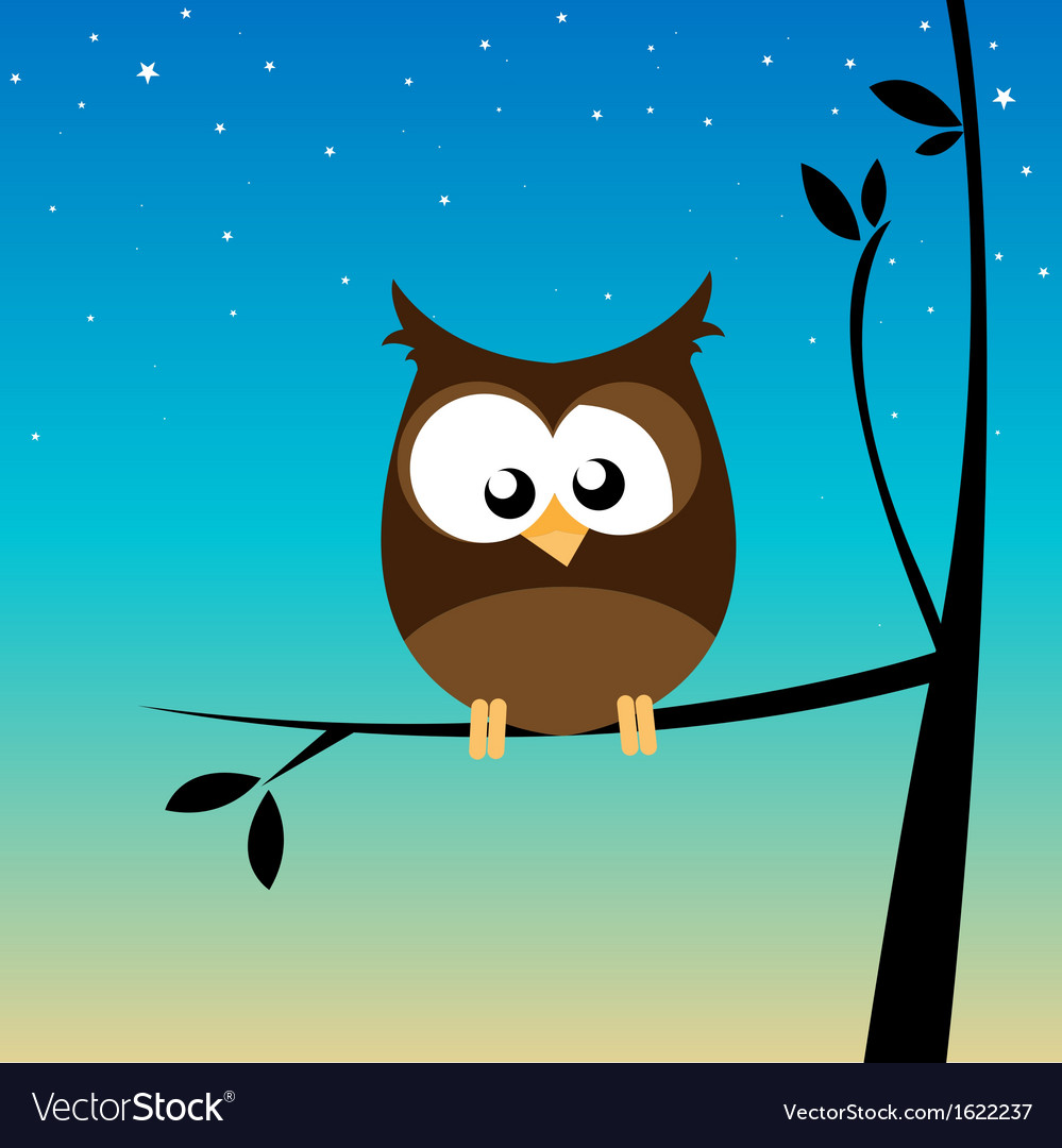 Owl in a tree vector image