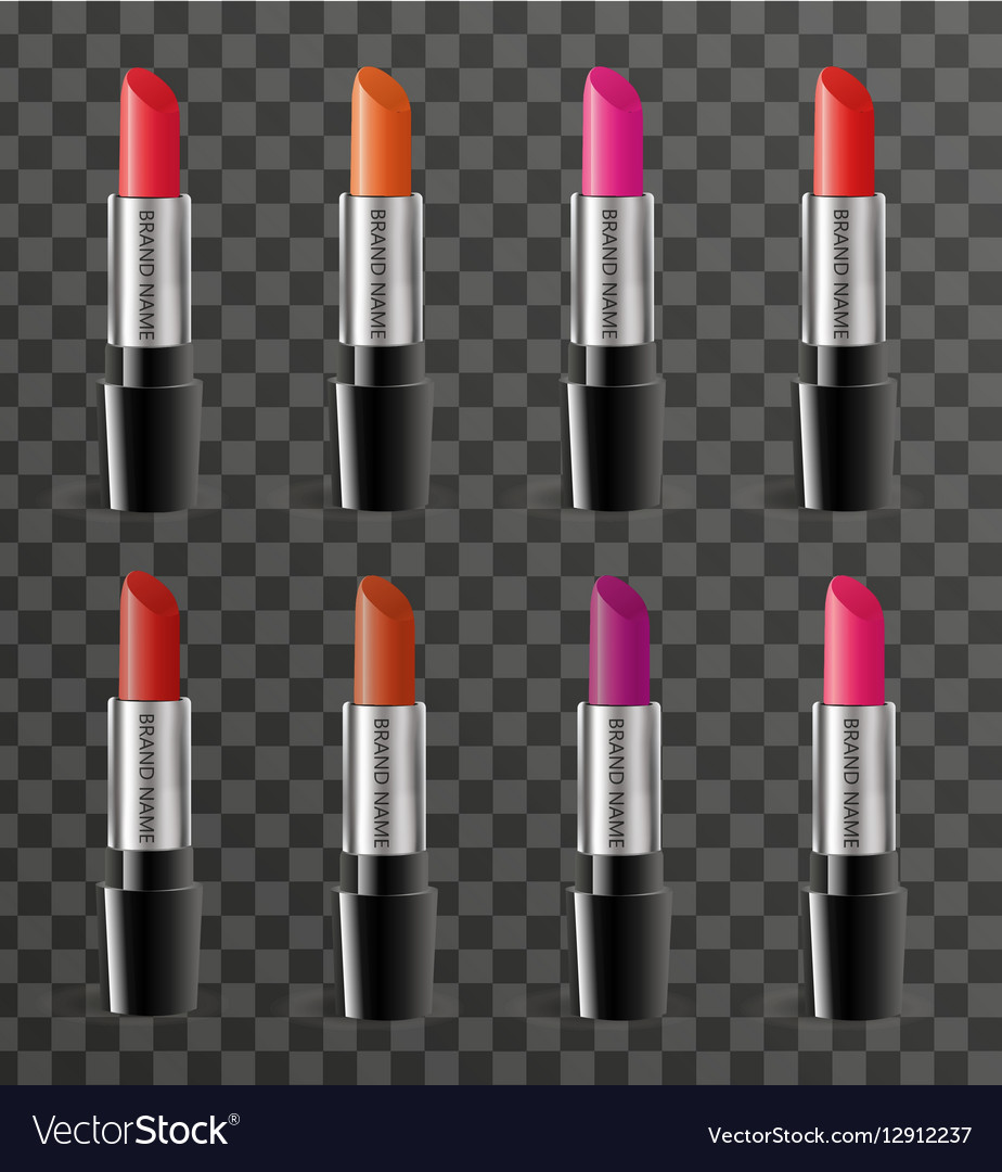realistic lipstick package template for your vector image