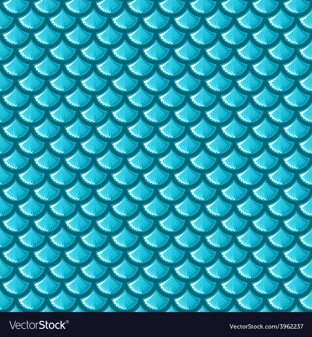 Seamless Blue River Fish Scales Royalty Free Vector Image