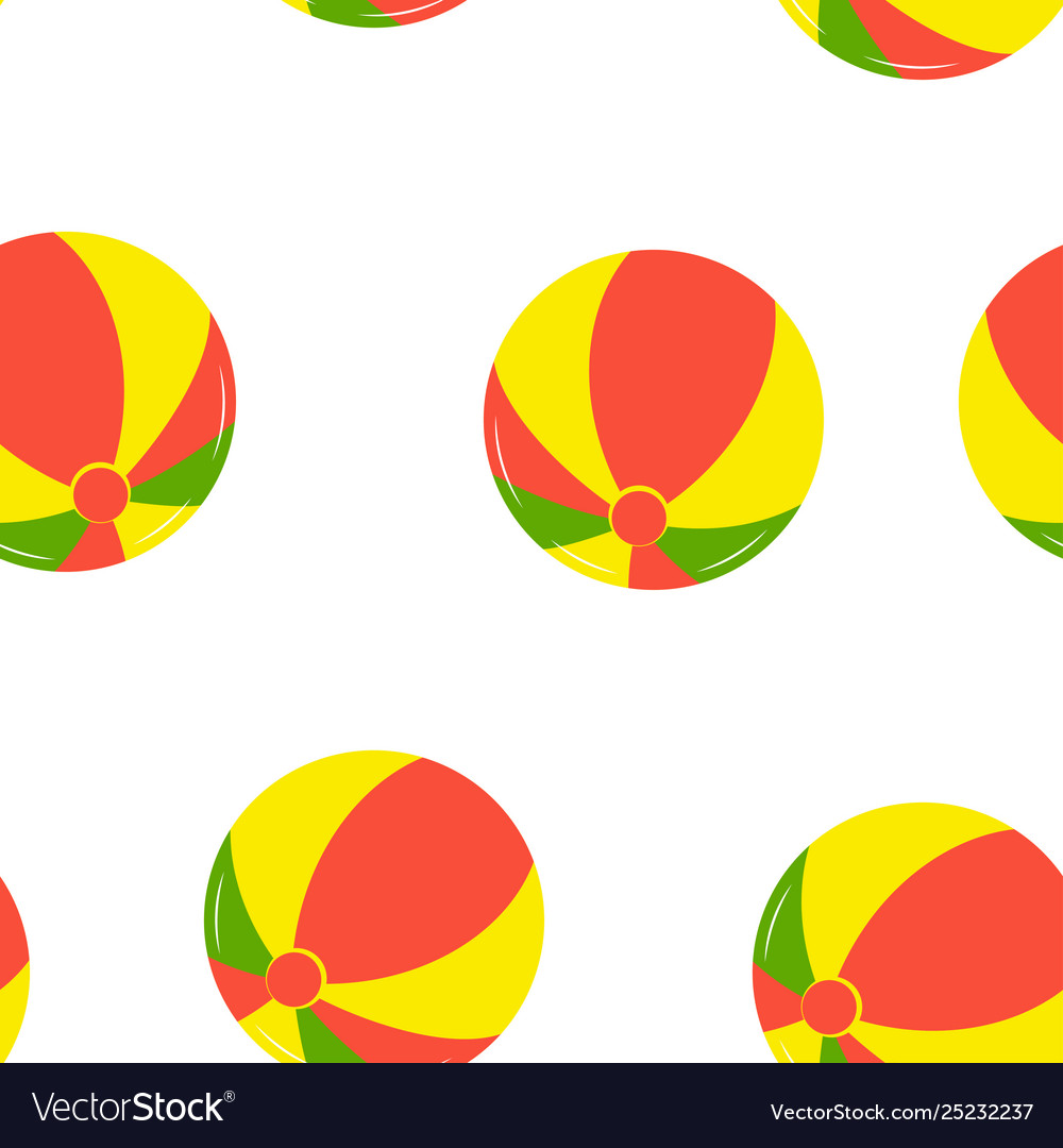 Seamless pattern with beach balls
