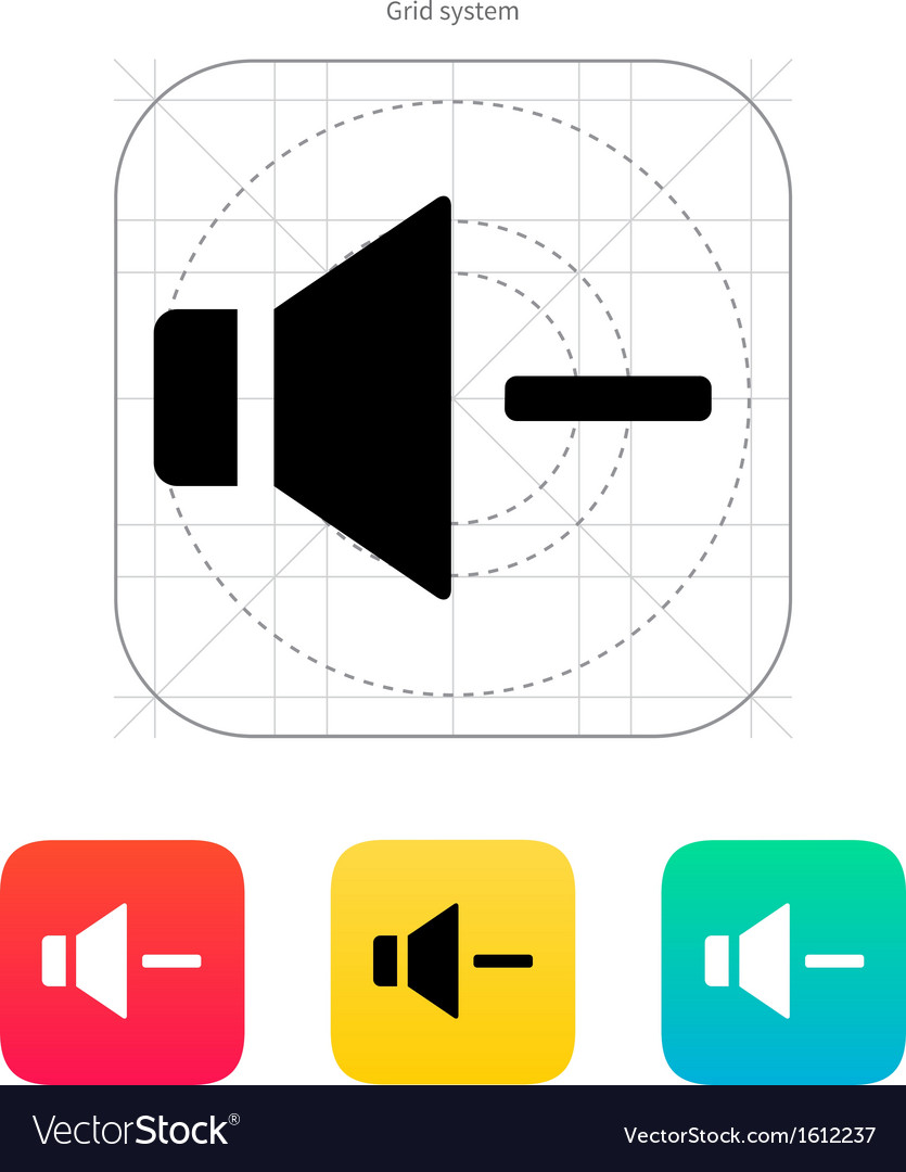 Speaker icon Volume minus vector image