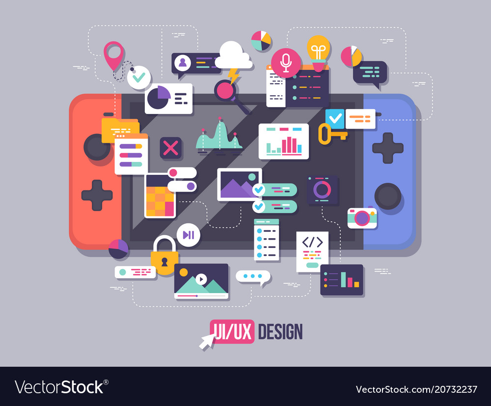 The process of developing interface for game