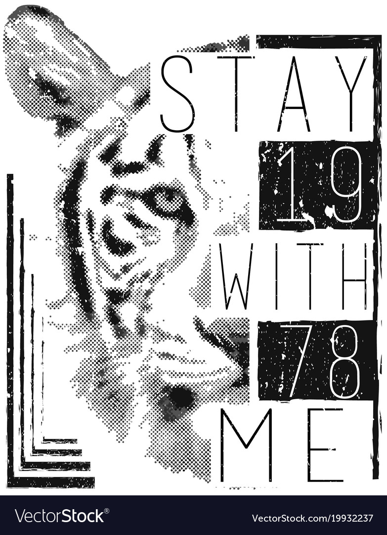 Tiger face with typo for tee print