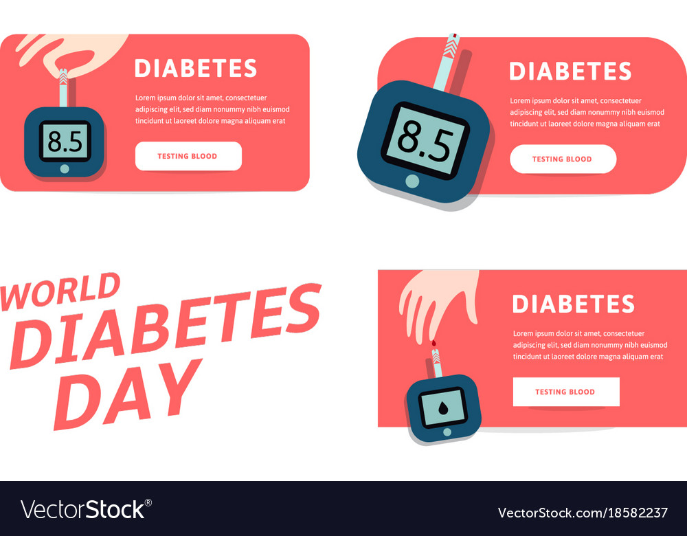 World diabetes day infographics template