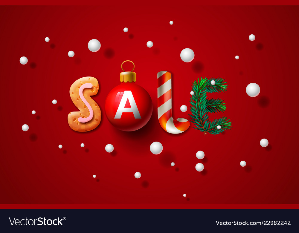 Christmas sale background promotional poster for