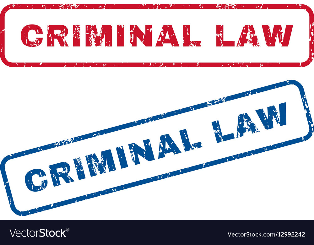 Criminal Law Rubber Stamps