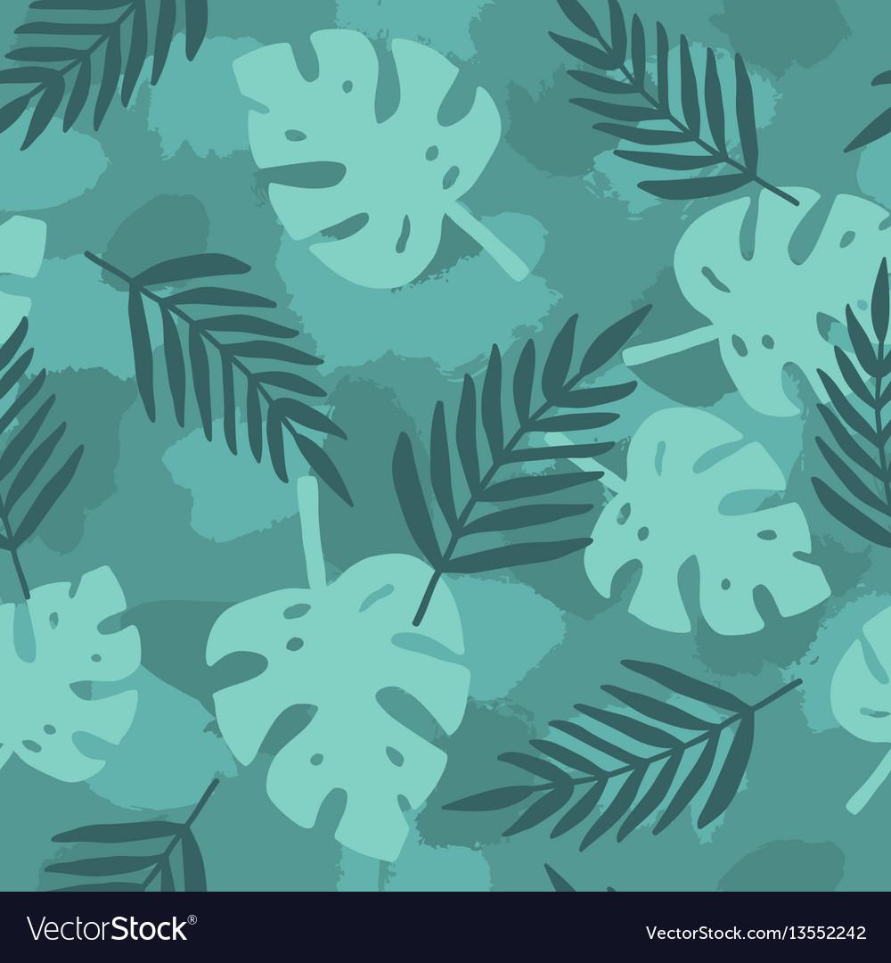 Dark green tropical leafs background