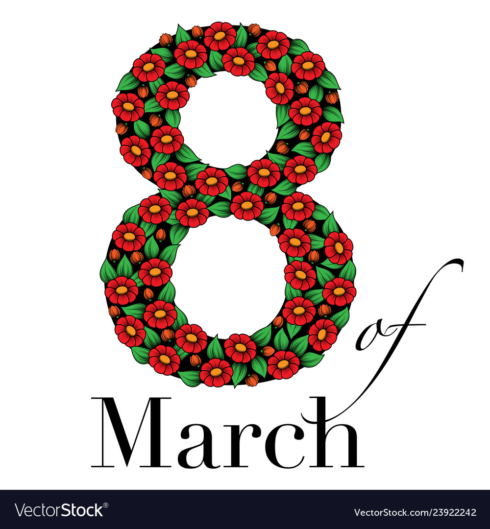 Eight Of March Background Royalty Free Vector Image