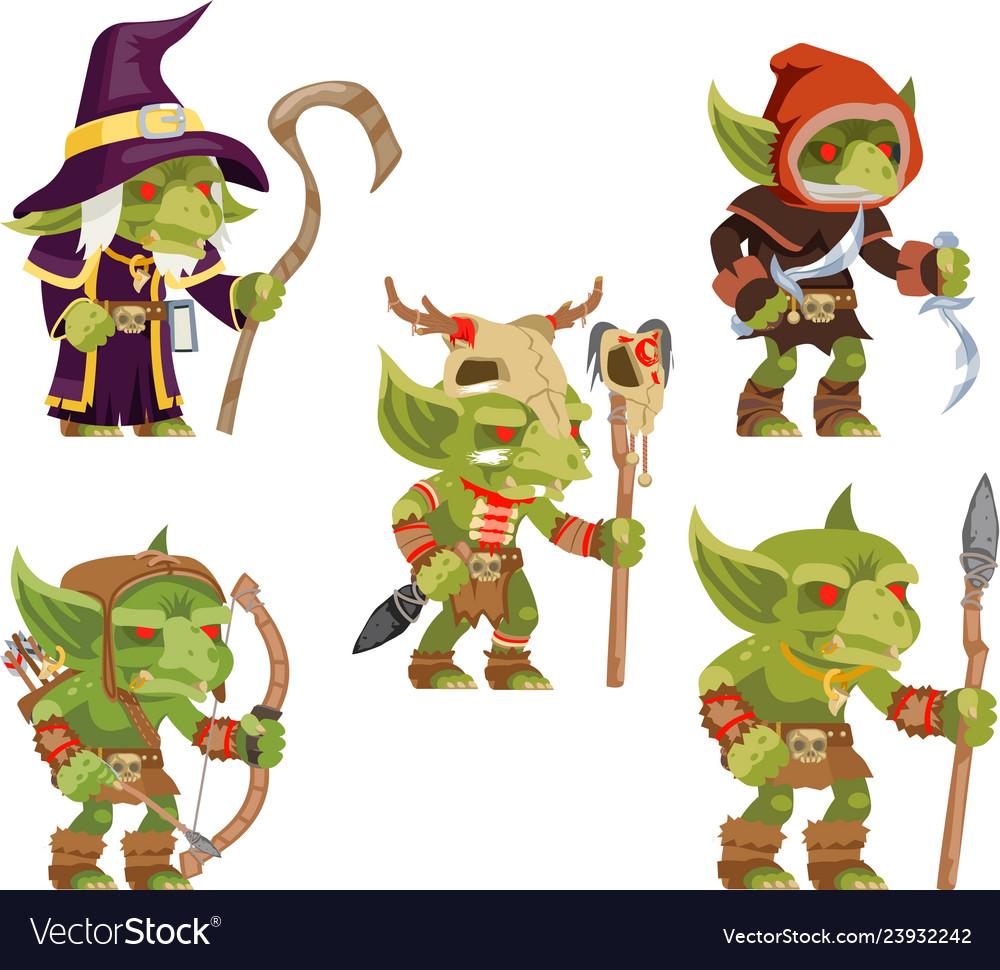 Evil goblins pack dungeon dark wood tribe monster
