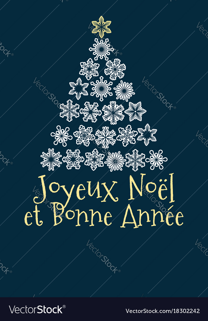 French christmas and new year greeting card vector image m4hsunfo